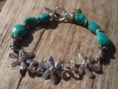 Sleeping Beauty Turquoise Bracelet with sterling by kudzupatch