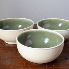 "wheel thrown pottery ideas | Ceramic Bowls Wheel Thrown Pottery In ""Ivory Sencha"" custom made by ..."