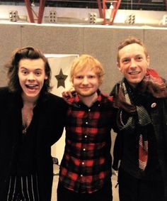 Whoa...Harry Styles, Ed Sheeran, and Chris Martin of Coldplay. :)