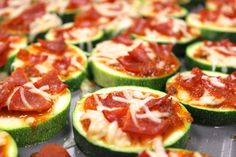 Zucchini pizza bites - A 3-Course Pizza Dinner is Just What Your Body Needs