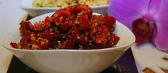 red pepper with walnut