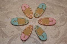 Diaper Pins Cookies by Nadia Bakes, via Flickr