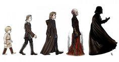 The Evolution of Darth Vader #darthtastic