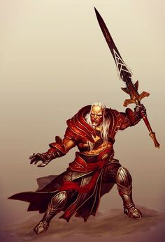 Sten as Arishok - Promotional art for Heroes of Dragon Age.