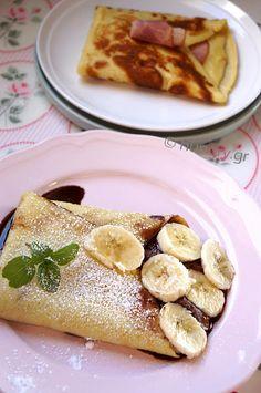 Κρέπες Γαλλικές Αλμυρές & Γλυκές-DIY French Crepes, French Toast, Cookbook Recipes, Cooking Recipes, Savory Crepes, Pancakes, Sweets, Breakfast, Food