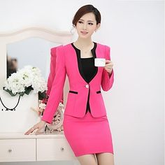 Women's Fashion OL Suit(Blazer & Skirt) - USD $ 54.59