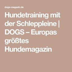 Hundetraining mit der Schleppleine   DOGS – Europas größtes Hundemagazin