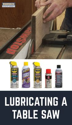 George Vondriska provides tips on how to lubricate your table saw to protect it and help its parts move smoothly. A WoodWorkers Guild of America (WWGOA) original video.