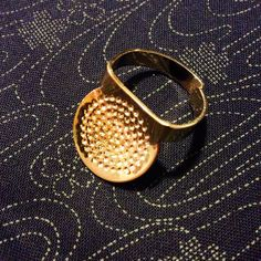 Japanese Metal sashiko thimble for sewing, quilting, needlepoint, and embroidery