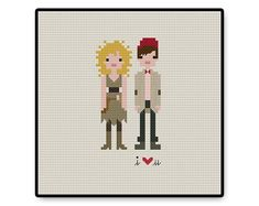 River and Eleven In Love  Doctor Who  Cross stitch by HugSandwich
