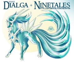 Pokemon Fusion: Shiny Dialga X Ninetales Pokemon Rare, Pokemon Mix, Pokemon Fusion Art, Mega Pokemon, Pokemon Eevee, Pokemon Fan Art, Pikachu, Digimon, Fantasy Creatures