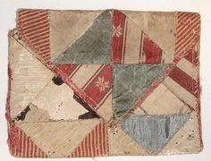 Antique RARE Textile Quilt 1700's 18th Century Patchwork Stitched Wallet Purse   eBay