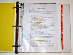 Mrs. C's Classroom: Lesson Plan Notebook Organization