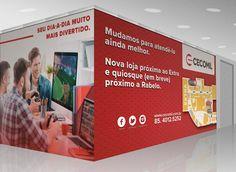 A Cecomil é cliente da A+,  uma agência de publicidade diferenciada que se foca em comunicação integrada, por isso está sempre de olho nas melhores maneiras de agradar o cliente e o público. Seja em gestão de redes sociais, criação de sites, marketing direto, ativação de produtos. Dessa vez, o trabalho da A+, como agência de publicidade, foi dar uma nova cara para a loja Cecomil no shopping Iguatemi.