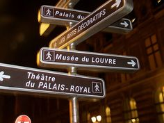 Street signs near the Louvre