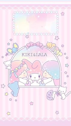 Little Twin Stars, My Melody My Melody Wallpaper, Sanrio Wallpaper, Star Wallpaper, Hello Kitty Wallpaper, Kawaii Wallpaper, Wallpaper Iphone Cute, Disney Wallpaper, Cute Wallpapers, Pink Wallpaper