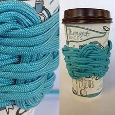 Paracord Coffee Sleeve -- dead link, but doesn't seem too hard to figure out