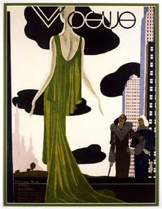 * Vogue USA cover, March 1930 - Pierre Mourgue