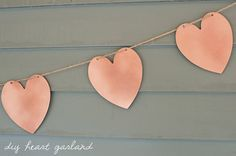Use Krylon spray paint in metallic copper to recreate this lovely DIY heart garland from The Sweetest Occasion!