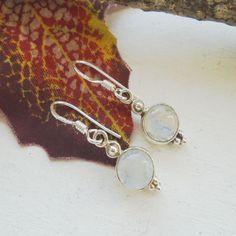 Mondstein, rund, Ohrringe, Ohrhänger, 925 Sterling Silber in Uhren & Schmuck, Echtschmuck, Ohrschmuck | eBay!