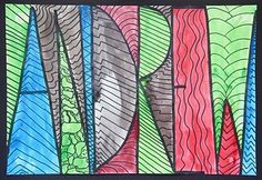 Great project for pattern, abstract art, etc.