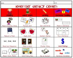 Sarah's First Grade Snippets: September Literacy Centers and a sale!