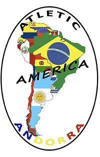 CF Atlètic Amèrica (Escaldes-Engordany, Andorra) #CFAtlèticAmèrica #EscaldesEngordany #Andorra (L16162) Messi, Premier League, Andorra, Badge, Football, America, San, Soccer, The World