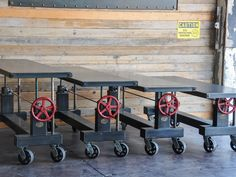 4 Crank tables going to the Warhol museum, by Vintage Industrial in Phoenix...