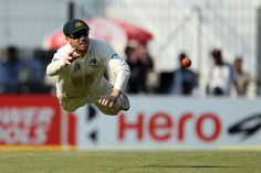 Feb. 23, 2013: David 'Jonty' Warner in action on Day 2 of the Chennai Test. What a flyer! Photo courtesy: BCCI