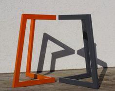 Mesa de acero patas, patas de mesa de comedor, escritorio patas, patas de mesa de Metal, piernas del Metal pintada juego de 2