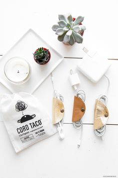How cute are these?!? They're call Cord Tacos and they keep all your cords neat and tidy (and looking pretty!) Gah! I love them. #cordtacos #organised #organized