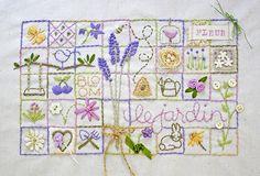 a garden sampler by Jill Burgess/Bailiwickdesigns. gorgeous!