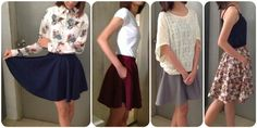 DIY Fashion Sewing Blog, Seweasy: DIY Circle & Half-Circle Skater Skirts with pocket...