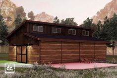 Brightwood horse barn kit is a modern single-story barn design that maximizes natural light and ventilation. Barn Plans, Garage Plans, Garage Ideas, Tongue And Groove Walls, Garage Party, Roof Sheathing, Barn Kits, Barn Storage, Clerestory Windows