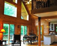 "Known as ""Forest Gate,"" this is the perfect ski weekend getaway, but it's low maintenance enough for a year-round home. The Monterey log house, cozy and rustic, is located minutes from Ski Butternut and close to Great Barrington attractions.  There are four bedrooms, two bathrooms, an open plan with vaulted ceiling and a wood-burning fireplace. Glass doors lead to a large deck and screen porch, all on 10 acres ideal for snow shoeing in the winter, and hiking the rest of the year."