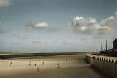 Harry Gruyaert. Picardie region. Bay of the Somme river. Beach of the town of Fort Mahon. France. 1991.