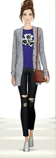 Very Nice and Casual look, Just created for no reason! Happy Styling! #covetfashion