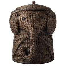 $80...Home Decorators Collection 16 in. W Animal Laundry Hamper in Brown-1641800820 at The Home Depot