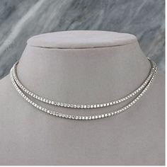 Diamantcollier mit 10.00 Karat Diamanten aus 585er Weißgold