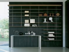 metal shelves design - Google Search