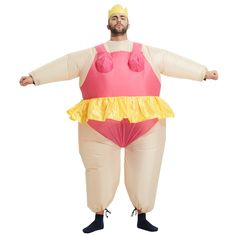 Inflatable Ballerina Dancer Costume Adult Polyester Halloween Costumes Inflatable Costumes Fancy Dress Fat Funny Suits