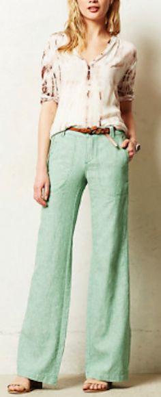 love these #mint wide leg linen pants http://rstyle.me/n/jkzerr9te