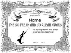 Recognition Certificates–Goofy Awards for Team Building