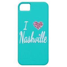 I Love Nashville iPhone 5 Cases