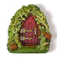 Summer Snail Fairy Door by LadybirdandLeaf on Etsy, £22.50