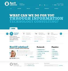 blue simple web design