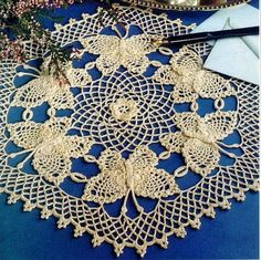 Crochet Butterfly Doily Graph on next page