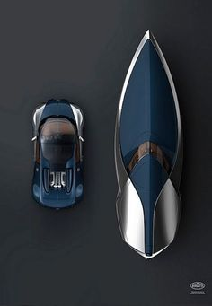 Stunning! Bugatti Veyron Sang Bleu Inspired Speedboat. Click to find out more. #spon #luxury