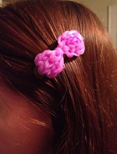 Create cute hair clips with your #bandaloom charms! #