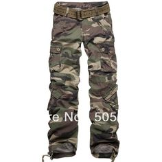 Wholesale Matchic women's camouflage pants cargo pants 100% cotton... ❤ liked on Polyvore